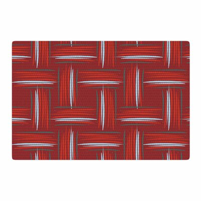 Empire Ruhl Red And Rust Crosshatch Digital Red Area Rug Rug Size: 4 x 6