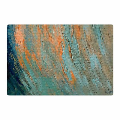 Carol Schiff Desert Hues Painting Orange/Teal Area Rug Rug Size: 2 x 3