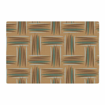 Empire Ruhl Natural Crosshatch Digital Beige/Brown Area Rug Rug Size: 4 x 6