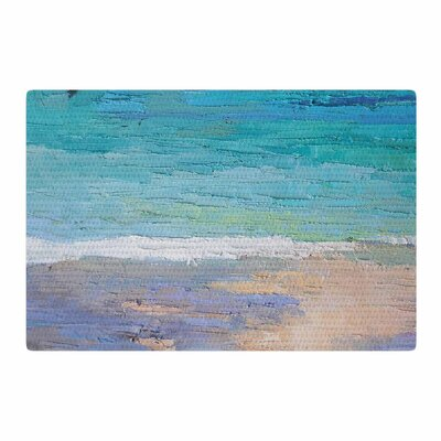 Carol Schiff Caribbean Dream Painting Green/Lavender Area Rug Rug Size: 2 x 3