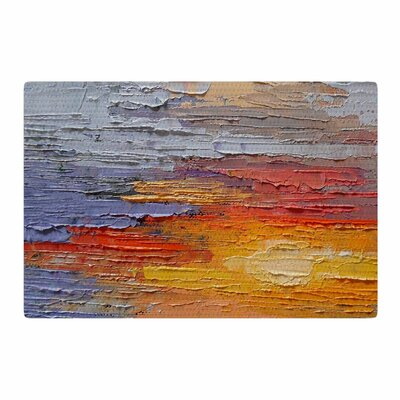 Carol Schiff Dreamy Sky Painting Blue/Orange Area Rug Rug Size: 2 x 3