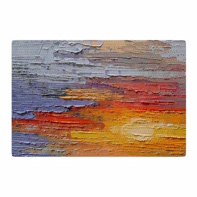Carol Schiff Dreamy Sky Painting Blue/Orange Area Rug Rug Size: 4 x 6