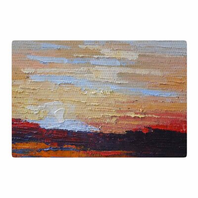 Carol Schiff On The Rise Painting Blue/Orange Area Rug Rug Size: 4 x 6