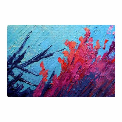 Carol Schiff Coral Reef Painting Coral/Teal Area Rug Rug Size: 4 x 6