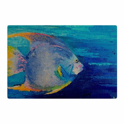 Carol Schiff Tropical Fish II Painting Blue/Pink Area Rug Rug Size: 2 x 3
