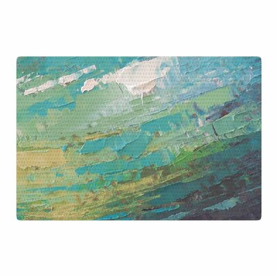 Carol Schiff Sea Dance Painting Teal/Green Area Rug Rug Size: 2 x 3