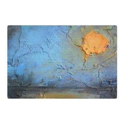 Carol Schiff Moon Glow Mixed Media Blue/Orange Area Rug Rug Size: 2 x 3