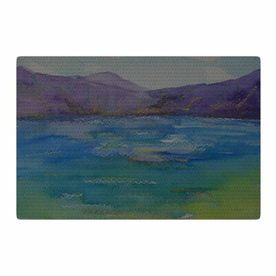 Cyndi Steen Purple Mountains Blue/Green Area Rug Rug Size: 4 x 6
