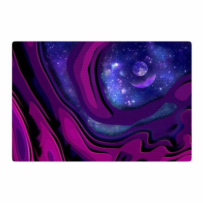 Cvetelina Todorova The Outreach Mixed Media Purple/Blue Area Rug Rug Size: 4 x 6