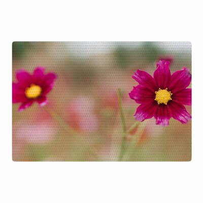 Chelsea Victoria Wild For You Floral Photography Yellow/Pink Area Rug Rug Size: 2 x 3