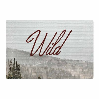 Winter Wild Green/Red Photography Area Rug Rug Size: 2 x 3