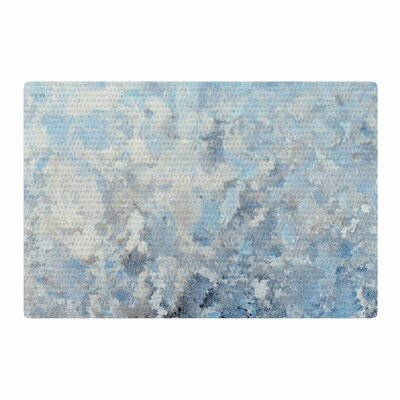 Chelsea Victoria Frosted Marble Photography Blue/White Area Rug Rug Size: 4 x 6