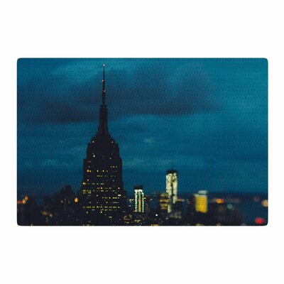 Chelsea Victoria New York Nights Photography Blue/Black Area Rug Rug Size: 2 x 3