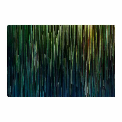 Ginkelmier Planet Pixel Billboard Digital Blue/Yellow Area Rug Rug Size: 4 x 6