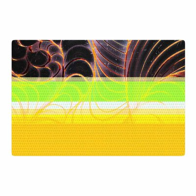 Danny Ivan Trouble Digital Black/Orange Area Rug Rug Size: 2 x 3