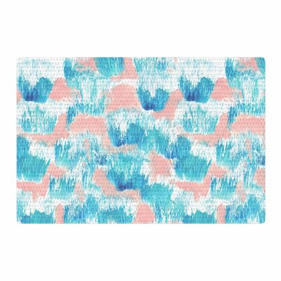 Danii Pollehn Neon Tropical Illustration Blue/Pink Area Rug Rug Size: 2 x 3