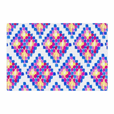 Danii Pollehn Marrakech Mosaic Watercolor Pink/Blue Area Rug Rug Size: 2 x 3