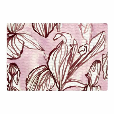 Danii Pollehn Palm Tree Illustration White/Black Area Rug Rug Size: 4 x 6