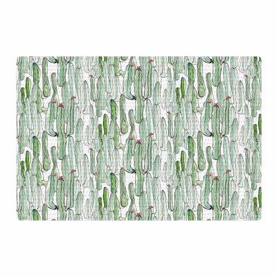 Danii Pollehn Cacti Illustration Green/White Area Rug Rug Size: 2 x 3