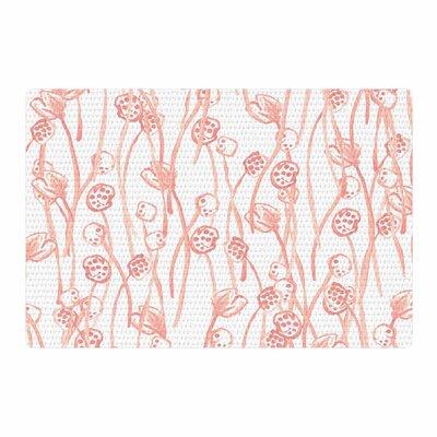 Danii Pollehn Poppy Illustration Pastel/Pink Area Rug Rug Size: 4 x 6