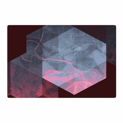 Cafelab Dramatic Geometry Geometric Black/Pink Area Rug Rug Size: 2 x 3