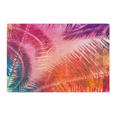 Cafelab Pop Tropical Abstract Purple/Pink Area Rug Rug Size: 2 x 3