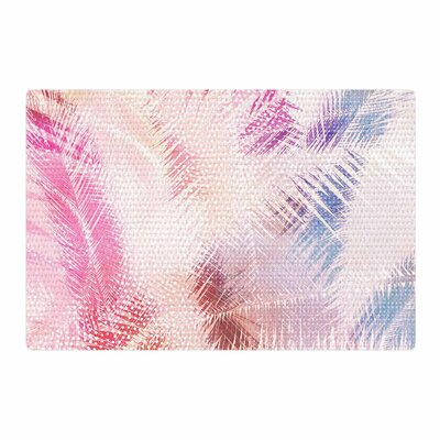 Cafelab Sweet Tropical Abstract White/Pink Area Rug Rug Size: 2 x 3