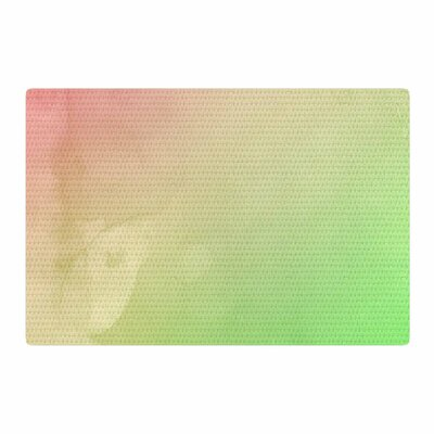 Cafelab Greenery and Pink Watercolor Green/Pink Area Rug Rug Size: 2 x 3