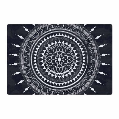 Famenxt Boho Aegean Mandala Gray/Black Area Rug Rug Size: 2 x 3