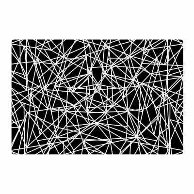 Fimbis Bionic Rays BW Digital Black/White Area Rug Rug Size: 2 x 3