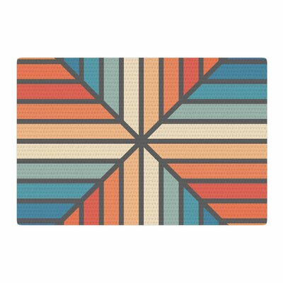 Fimbis Celebration Vector Blue/Orange Area Rug Rug Size: 2 x 3