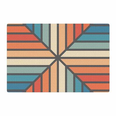 Fimbis Celebration Vector Blue/Orange Area Rug Rug Size: 4 x 6