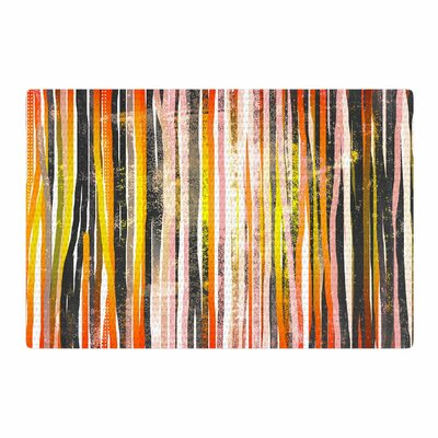 Frederic Levy-Hadida Chocolate Stripes Illustration Brown/Olive Area Rug Rug Size: 2 x 3