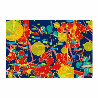 Frederic Levy-Hadida Foliage Folie 2 Digital Blue/Orange Area Rug Rug Size: 2 x 3
