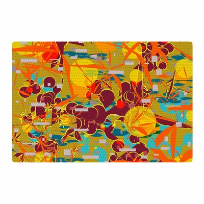 Frederic Levy-Hadida Foliage Folie 3 Maroon Digital Yellow Area Rug Rug Size: Rectangle 2 x 3