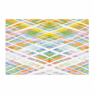 Frederic Levy-Hadida Losanges 2 Digital Pastel/Blue Area Rug Rug Size: 4 x 6
