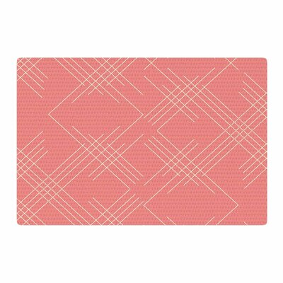 Famenxt All A Blaze Abstract Illustration Coral/Beige Area Rug Rug Size: 4 x 6