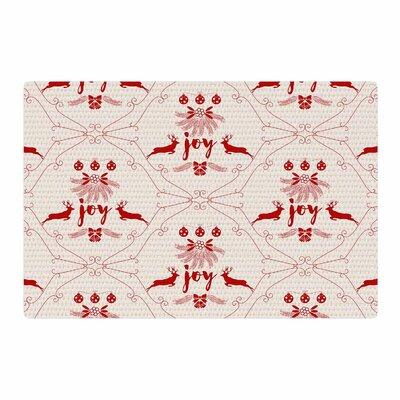 Famenxt Christmas Joy Pattern Digital Red/Beige Area Rug Rug Size: 2 x 3