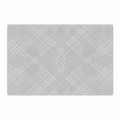 Famenxt Abstract Illustration Gray/White Area Rug Rug Size: 2 x 3
