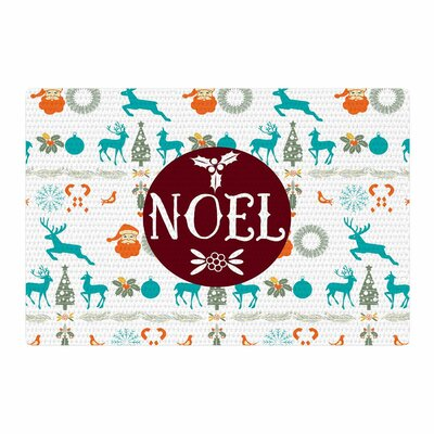 Famenxt Noel Digital Blue/White Area Rug Rug Size: 4 x 6