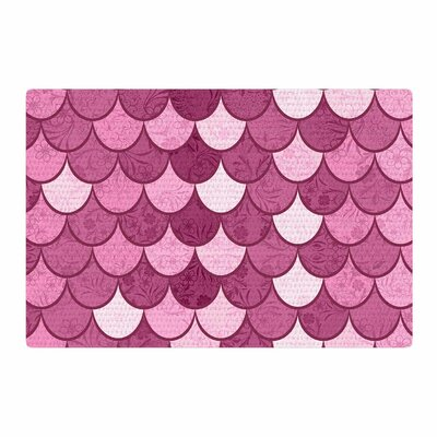 Famenxt Mermaid Pattern Illustration Pink Area Rug Rug Size: Rectangle 2 x 3