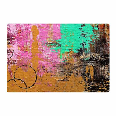 Geordanna Fields Kala II Abstract Gold/Pink Area Rug Rug Size: 2 x 3
