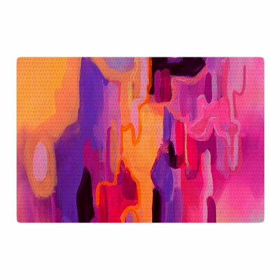 Geordanna Fields Pungent Euphoria Abstract Orange/Pink Area Rug Rug Size: 4 x 6