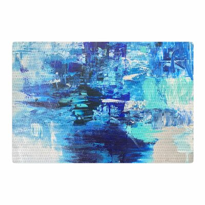 Geordanna Fields Walked On Water Abstract Blue/Teal Area Rug Rug Size: Rectangle 2 x 3
