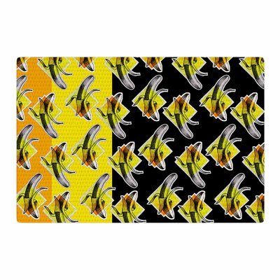 Ivan Joh Bananas Painting Black/Yellow Area Rug Rug Size: 4 x 6