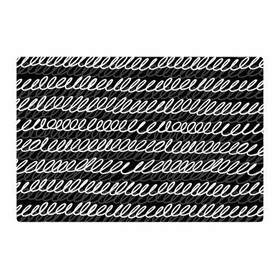 Ivan Joh Squiggles Painting Black/White Area Rug Rug Size: 2 x 3