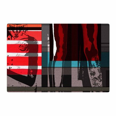 Ivan Joh Temptation Red/Teal Area Rug Rug Size: 4 x 6