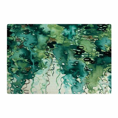 Ebi Emporium Beauty In The Rain Emerald/Green Area Rug Rug Size: 4 x 6
