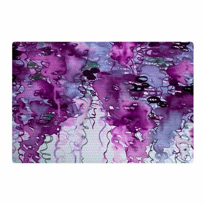Ebi Emporium Beauty In The Rain Plum/Lavender Area Rug Rug Size: 4 x 6