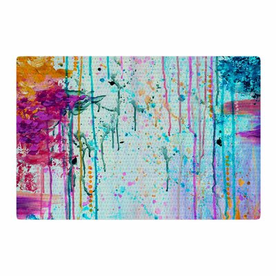 Ebi Emporium Happy Tears 4 Blue/Purple Area Rug Rug Size: 2 x 3
